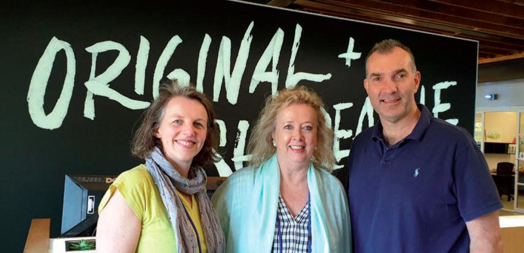 LE RÉSEAU AAR : Stéphanie Pitet (FR), Johanna McDowell (Afrique du Sud) et Paul Philips (UK)